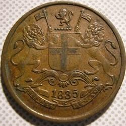 King William IV - One Quarter Anna 1835 ...