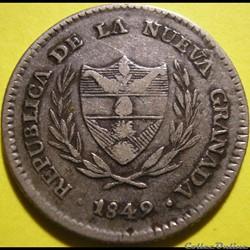 2 Reales 1849 Bogota - Nueva Granada