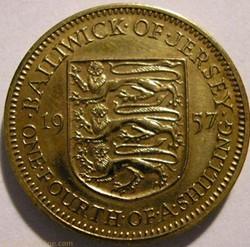 States of Jersey - 1/4 Shilling 1957 - E...