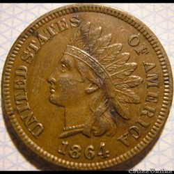 1864 One Cent