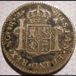 Guatemala - 1 Real 1785 NG M - Carlos II...