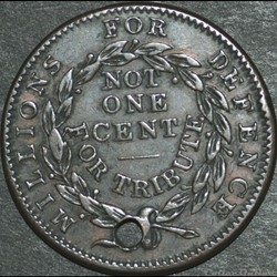 monnaie monde etat uni 1837 not one cent token millions for defence