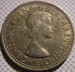 Elizabeth II - 6 Pence 1966 - UK
