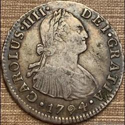 Peru - 2 Reales 1794 Lima - Carlos IV de España