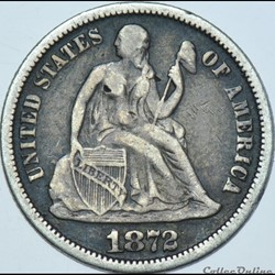 1872 Dime / 10 Cents