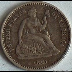 1861 Half Dime (ex.3)