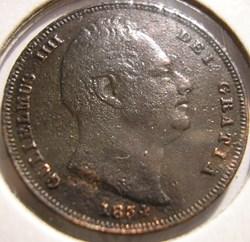 William IV - One Farthing 1834 Kingdom o...