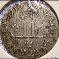 """Louis XIV - 30 Deniers 1710 AA - dit """"Mousquetaire"""""""