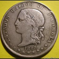 5 Decimos 1880 Medellin