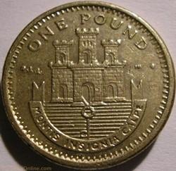 Elizabeth II - One Pound 2002 - Gibralta...