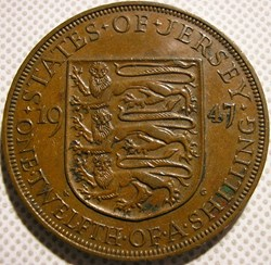 George VI - 1/12 Shilling 1947 - Jersey