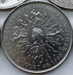 Elizabeth II - 25 New Pence 1980 - Queen...