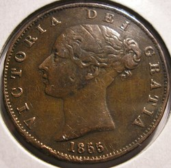 Victoria - HalfPenny 1855 - Kingdom of G...