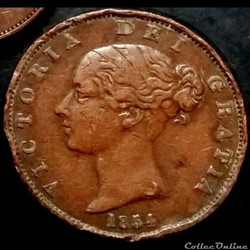 Victoria - HalfPenny 1854 - Kingdom of G...