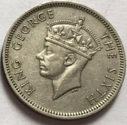 George VI - 1/2 Rupee 1950 - Mauritius