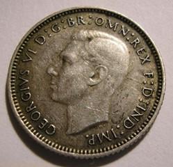 George VI -  6 Pence 1945 - Australia