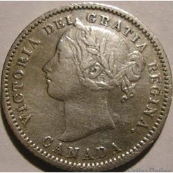 Victoria - 10 Cents 1874 Heaton