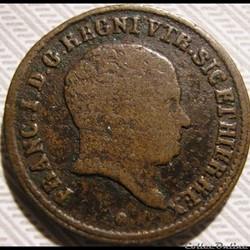 1827 Royaume des Deux-Siciles, Uno Tornese - Francesco I