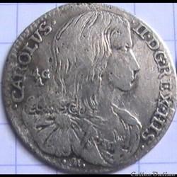 1690 Royaume de Naples Carlino / 10 Grana - Carlo II d'Espagne