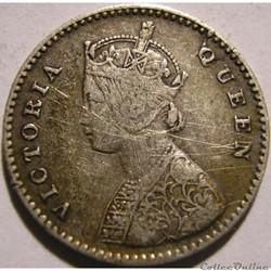Victoria - Two Annas 1862 Calcutta - British India