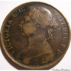 Victoria - One Penny 1890 - Kingdom of Great Britain
