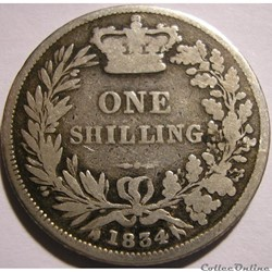 William IV - One Shilling 1834 Kingdom o...