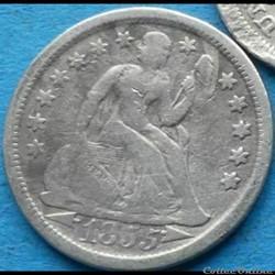 ←1855→ Dime / 10 Cents (ex.2)