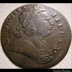 monnaie monde etat uni 1773 farthing no regal george iii of great britain