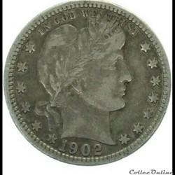 1902 New Orleans Quarter $