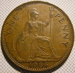 Elizabeth II - One Penny 1964 - UK