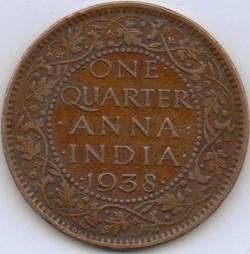 George VI - One Quarter of Anna 1938 Cal...