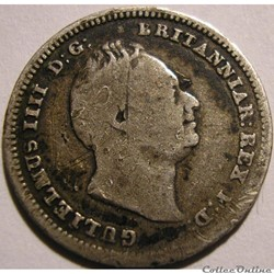 William IV - 3 Pence 1834 - Colonial issues