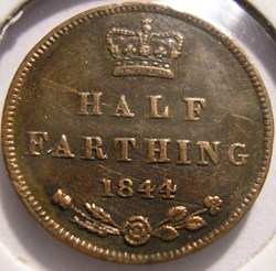 Victoria - Half Farthing 1844 - Kingdom ...