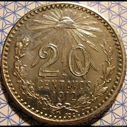 México - 1912 - Centavos 20 - Estados Unidos Mexicanos