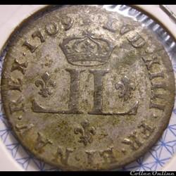 "Louis XIV - 30 Deniers 1709 AA - dit ""Mo..."