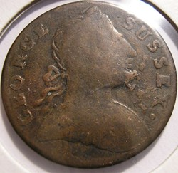 1776's George Sussex - Bater Sea Token