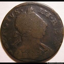 1775 Half Penny No Regal - George III of Great Britain (Ex.10)
