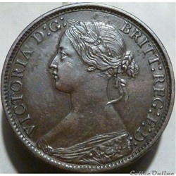 Victoria - One Farthing 1869 - Kingdom of Great Britain