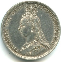 Victoria - 3 pence 1889 Kingdom of Great...