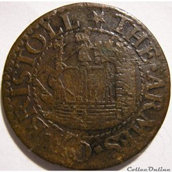 1652 Farthing - Bristol Town, Gloucestershire, England