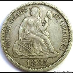 1885 Dime / 10 Cents