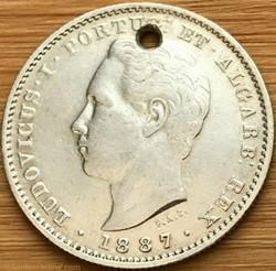 Luís Ist of Portugal - 200 Reis 1887