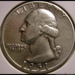 1951 D Quarter Dollar