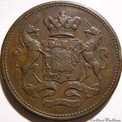 Penny Token 1812 - Cornwall, Cornish Mines