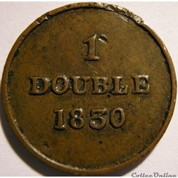 States of Guernsey - 1 Double 1830 (ex.2)