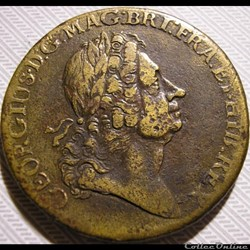 1723 Rosa America - Two Pence (1722-1723)