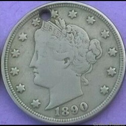 1890 5 Cents