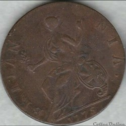 monnaie monde etat uni 1775 half penny no regal george iii of great britain ex 6
