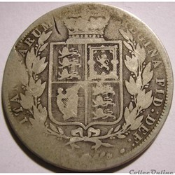 Victoria - Half Crown, 1884 - Kingdom of Great Britain