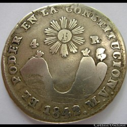 Ecuador - 4 Reales 1842 MV Quito